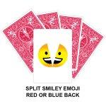 Split Smiley Emoji Gaff Playing Card