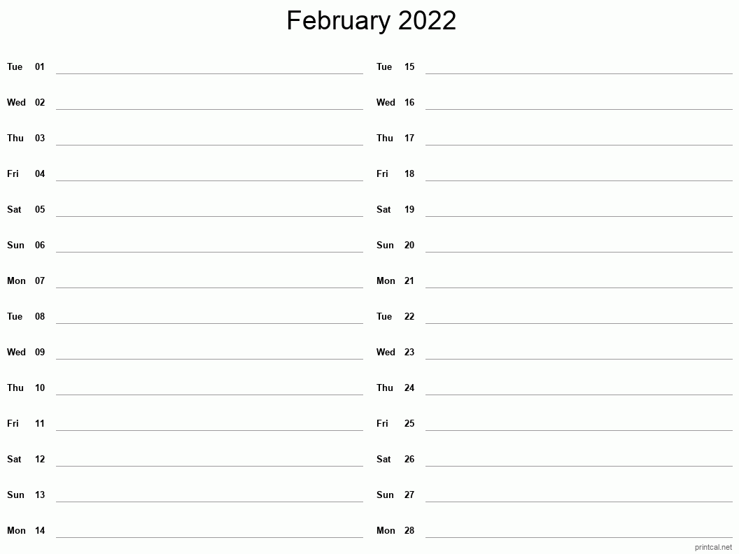 These include monthly calendars and even complete 2021 planners. Printable February 2022 Calendar   Free Printable Calendars