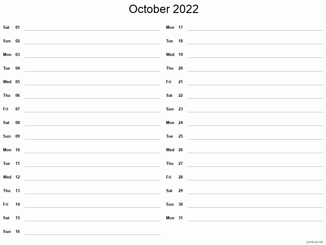 Printable October 2022 Calendar   Free Printable Calendars