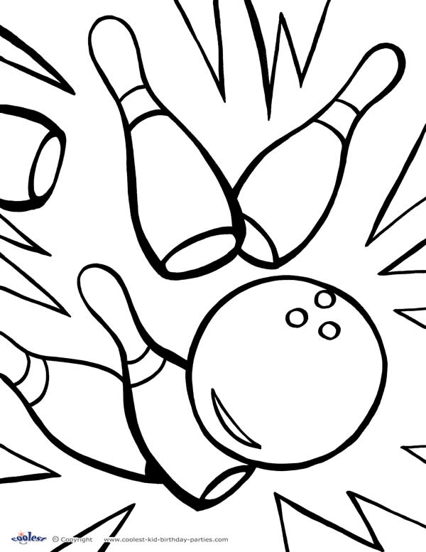 Bowling Coloring Pages - Kidsuki