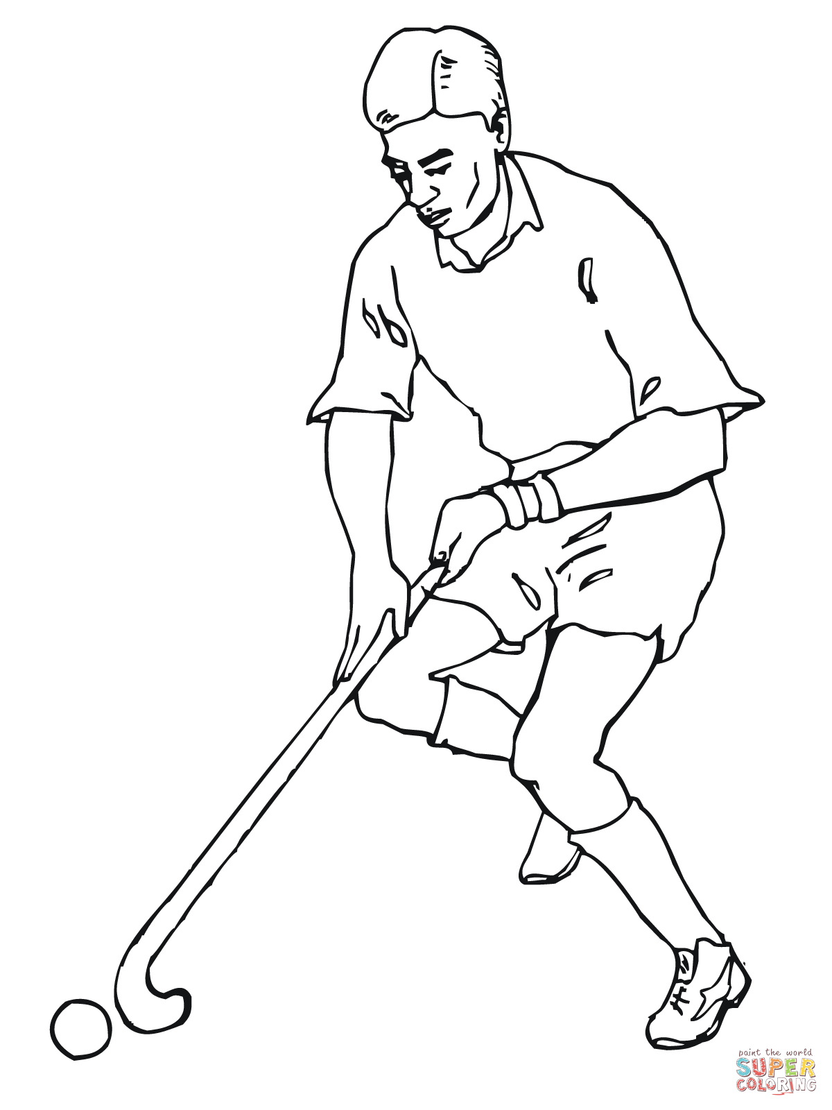 15 Kids Coloring Pages Field Hockey