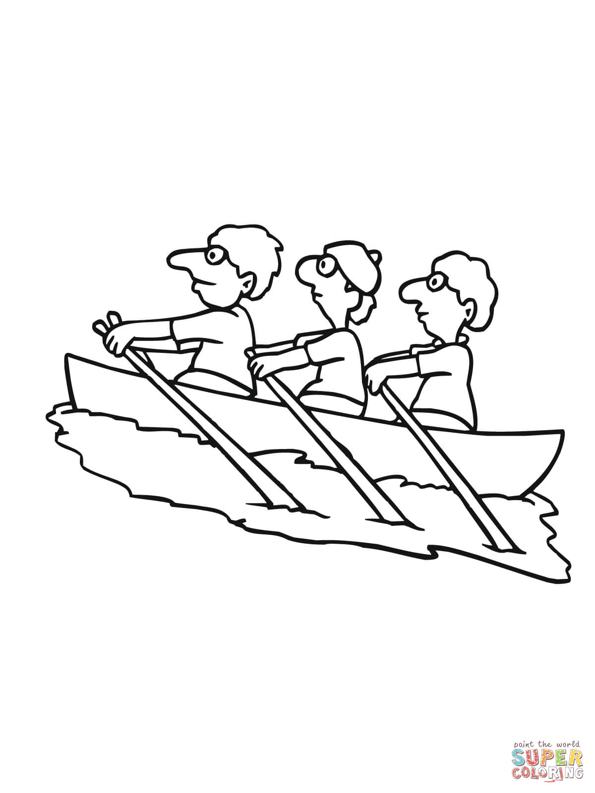 14 Kids Coloring Pages Rowing