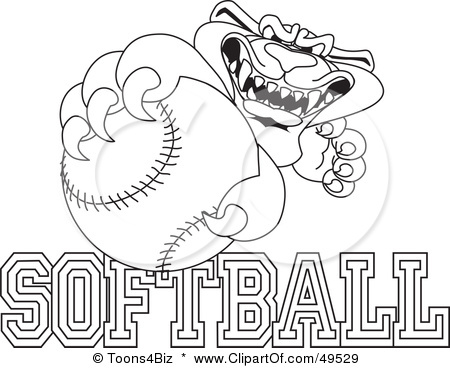 Cool Coloring Pages Softball Coloring Pages
