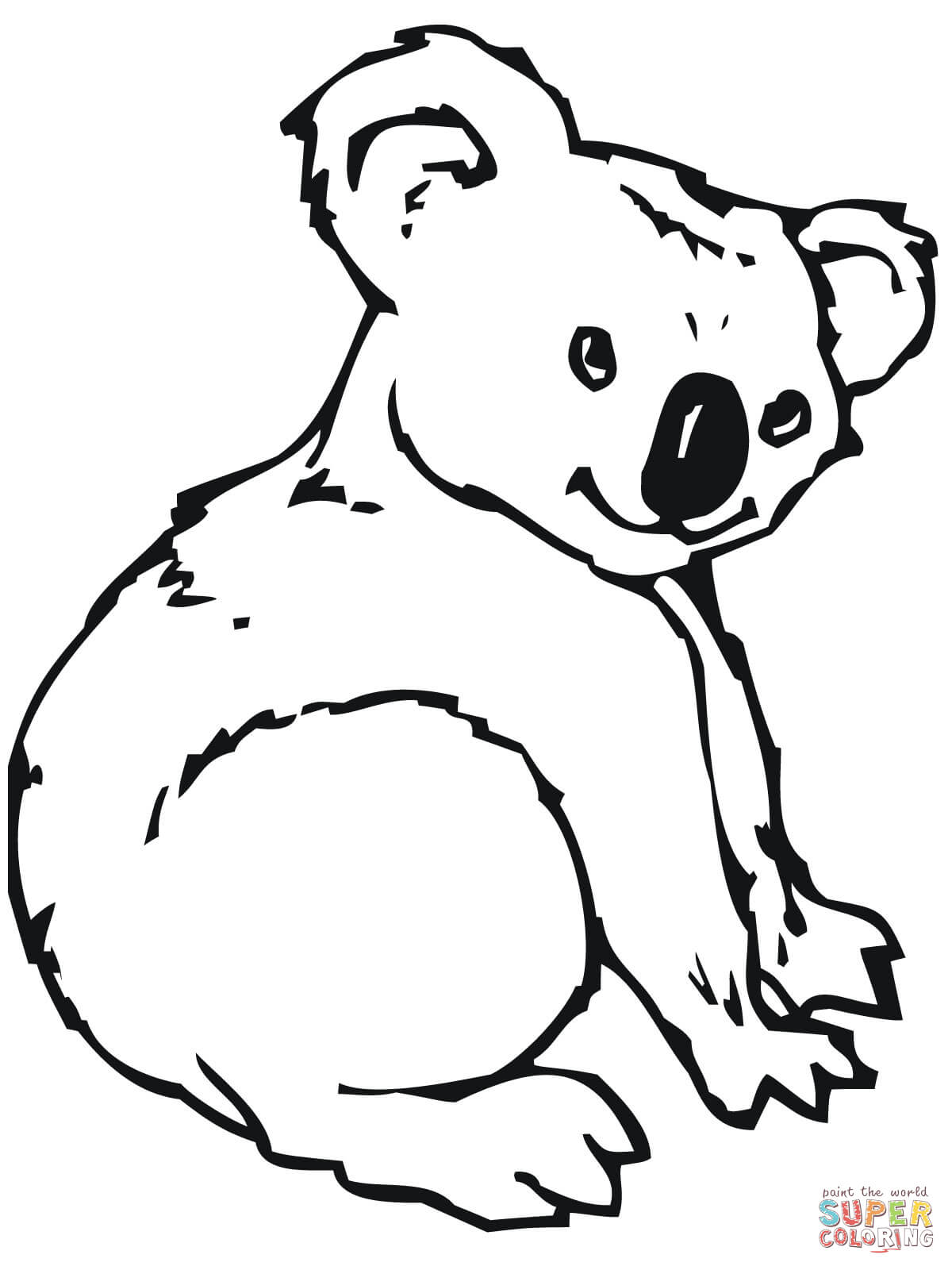 Koala Coloring Worksheet
