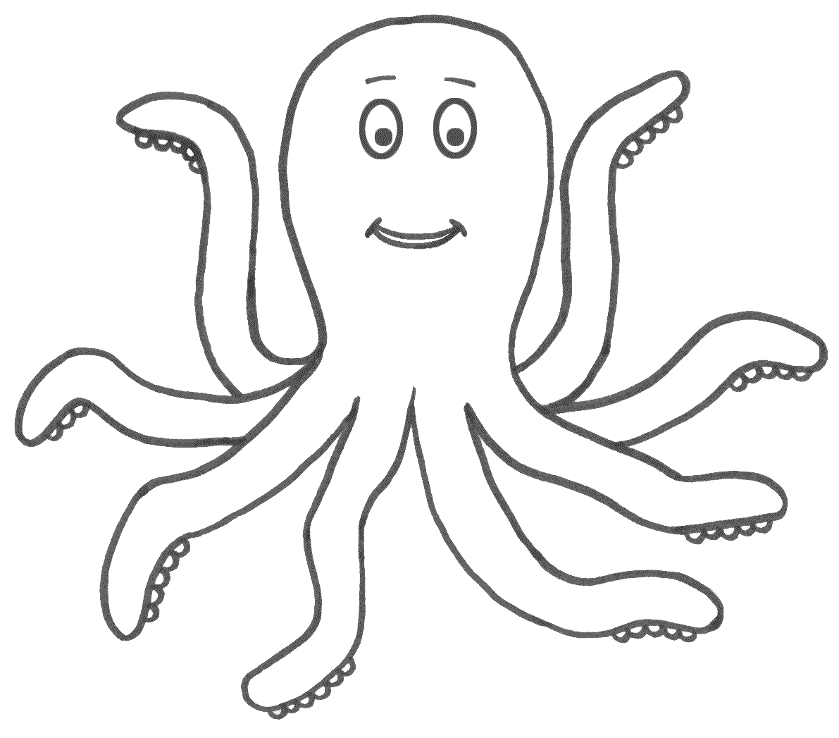 14 Octopus Coloring Page