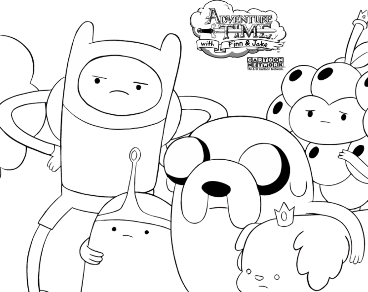 14 Coloring Pictures Adventure Time