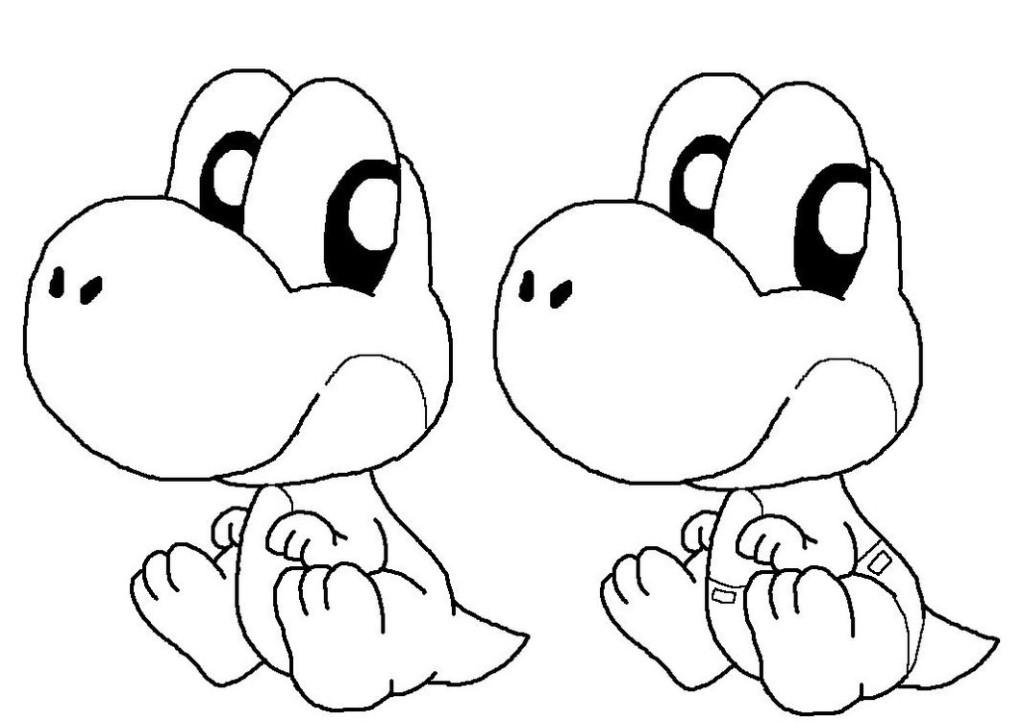 Kleurplaten Baby Yoshi.Baby Yoshi Coloring Pages