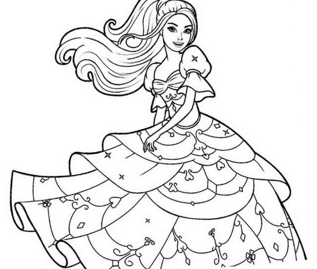Printable Barbie Coloring Pages Print Color Craft Print