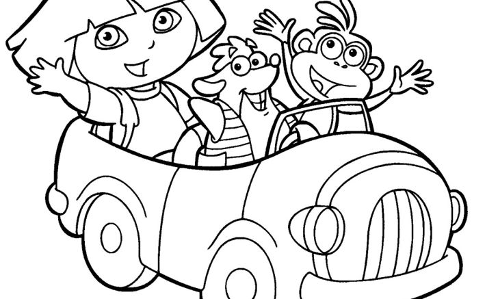 Dora the explorer coloring printable widescreen explorer for and boots androids high quality page to print color craft