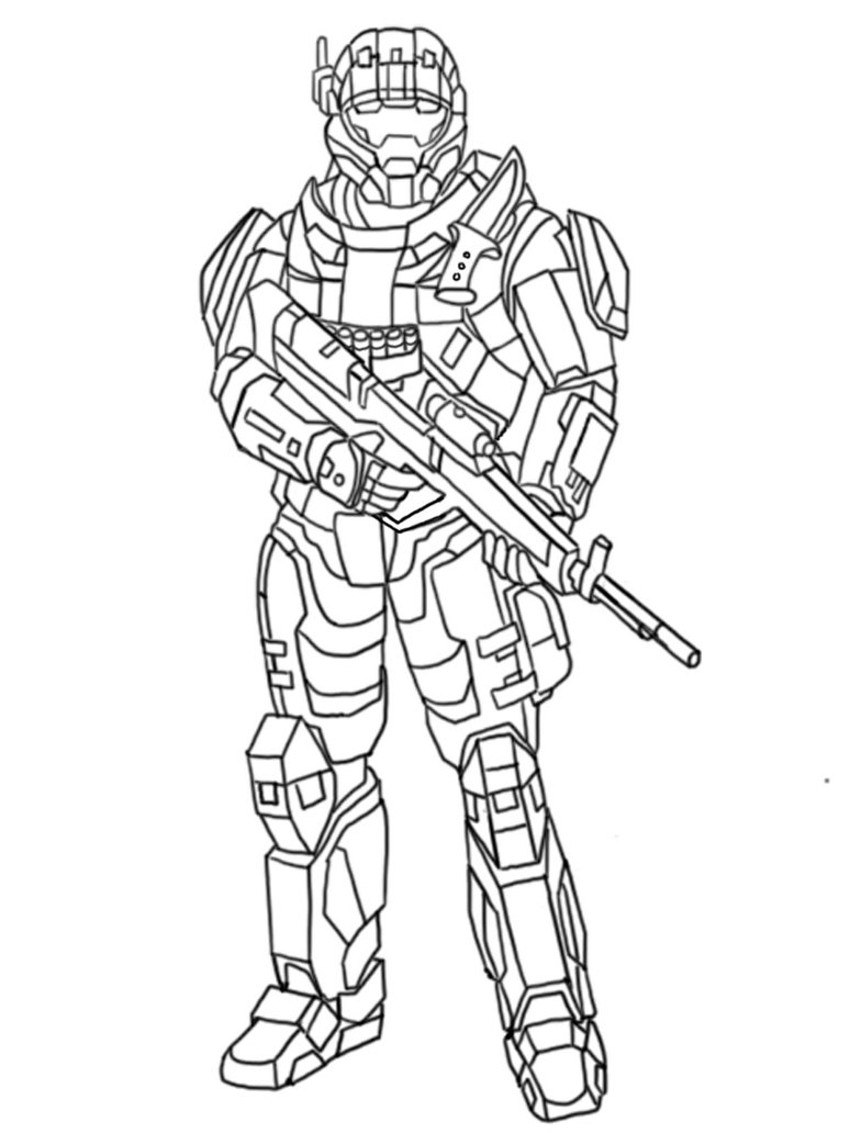 14 Halo Coloring Pages Printable Print Color Craft