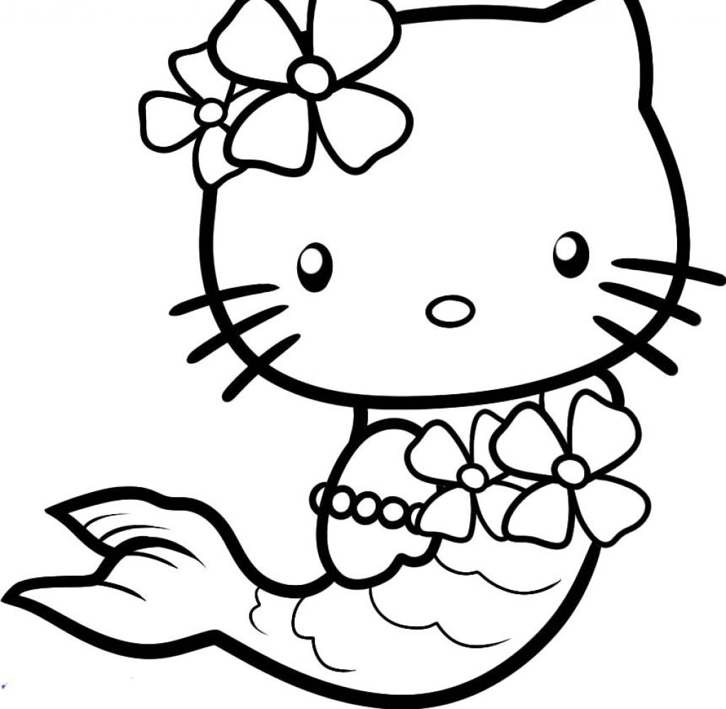 Japanese White Cat 15 Printable Hello Kitty Coloring Pages