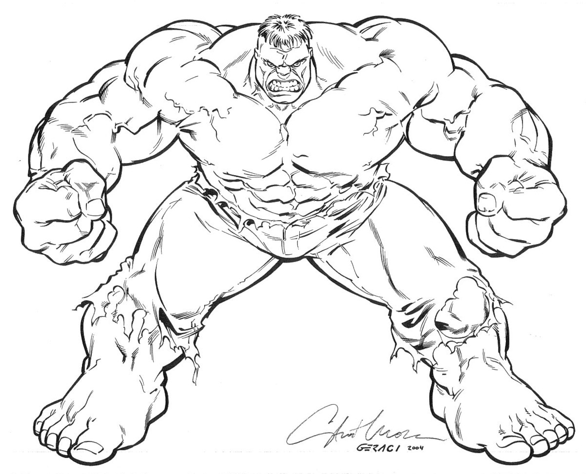12 hulk coloring pages for kids - Print Color Craft