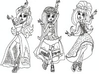 13 monster high coloring pages printable - Print Color Craft