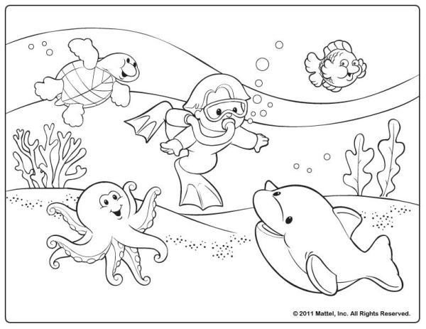 fisher price coloring pages # 3