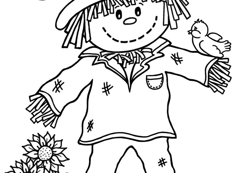 printable scarecrow coloring pages  print color craft