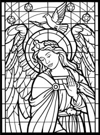 15 stained glass coloring pages for kids - Print Color Craft