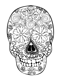 28 skull coloring pages for kids - Print Color Craft
