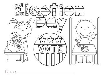 Election Day Printable Coloring Pages Coloring Pages