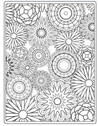 14 kids coloring pages adult flowers - Print Color Craft