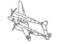 13 airplane coloring pages for kids - Print Color Craft