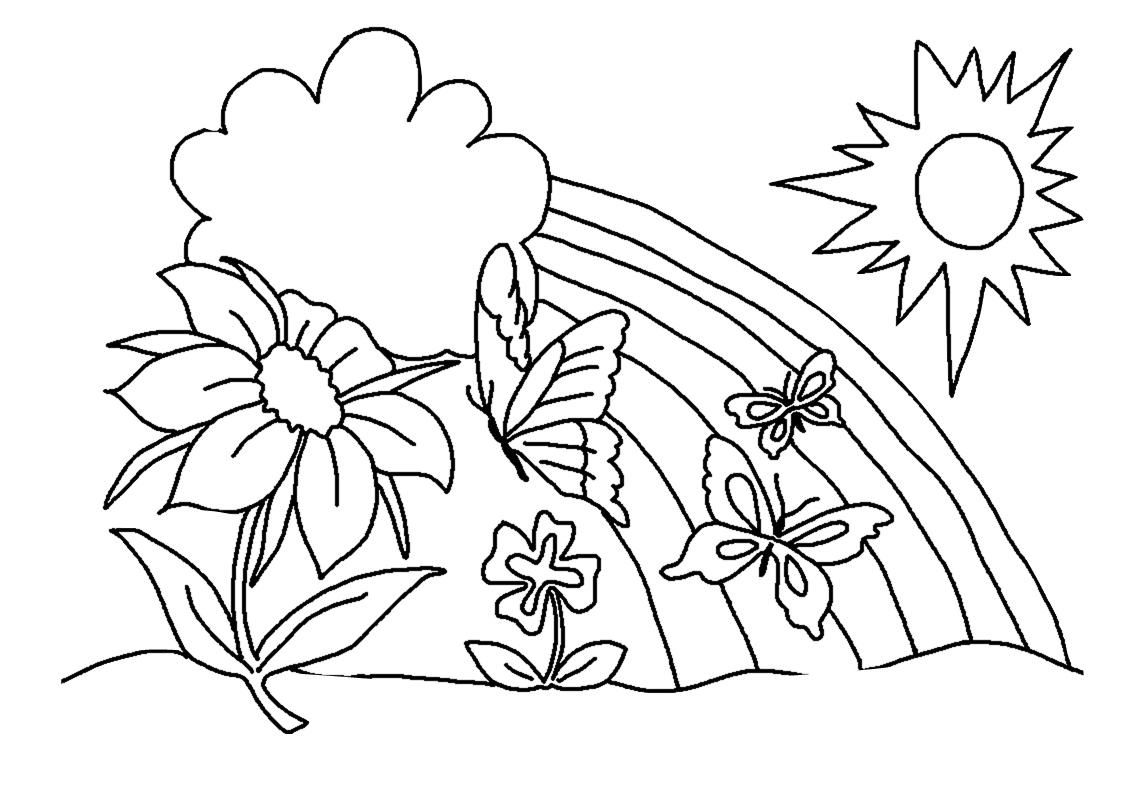 21 Printable Rainbow Coloring Pages Download