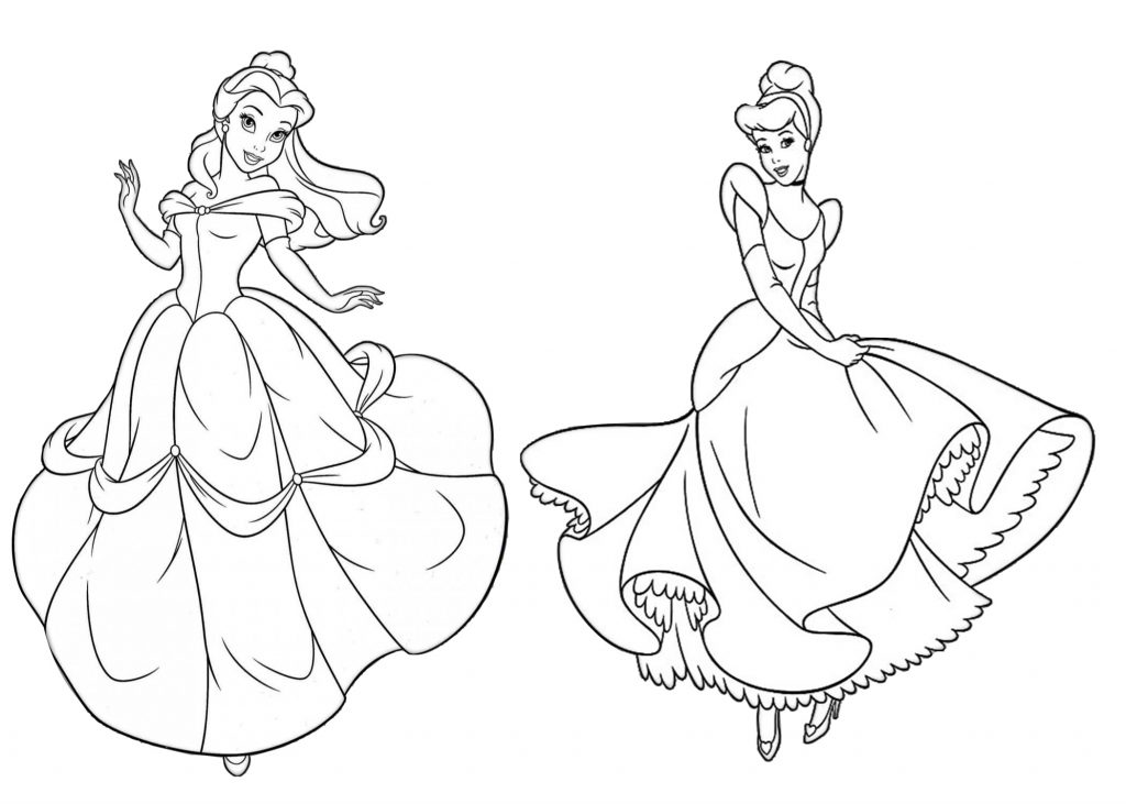 Cinderella and Beauty and the Beast Belle Princess