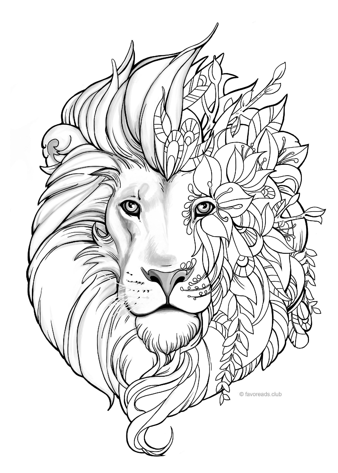 18 Printable Lion Coloring Pages Easy Amp Adult Coloring
