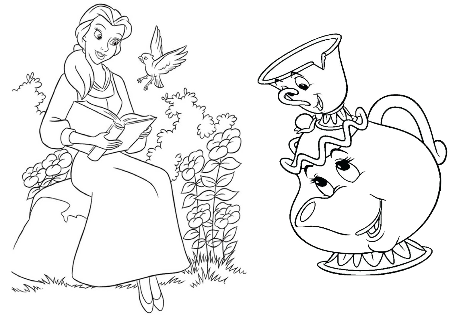 Beauty And The Beast Coloring Pages Princess Belle