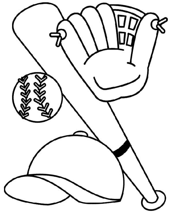 Exciting game: Baseball coloring pages and pictures