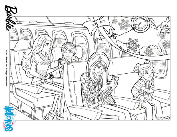 85+ Barbie Coloring Pages for Girls : Barbie Princess