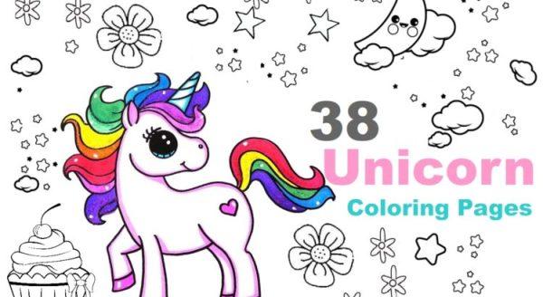 unicorn color pages # 57