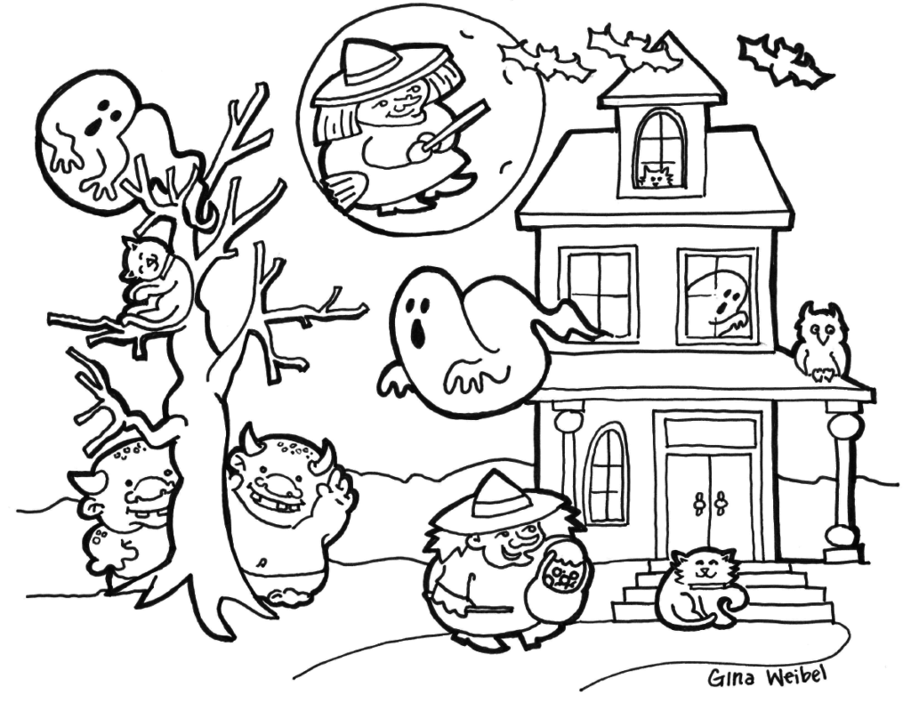 Cute And Spooky Haunted House Boo Weird Witch Ghostly And