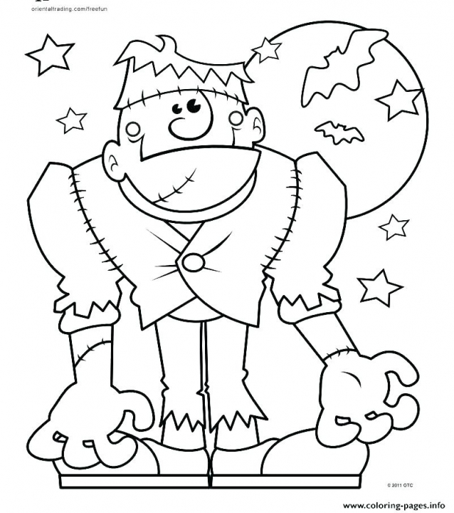 Spooky Halloween Coloring Pages Printable Spooky Coloring