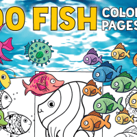 Top 100 fish coloring pages: Cute free printables