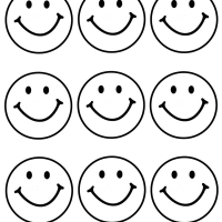 9 happy faces