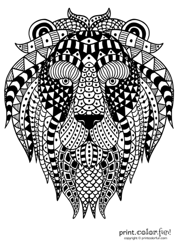 Abstract ornamental lion