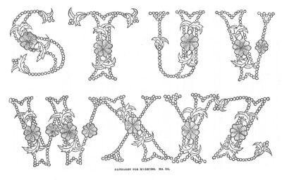 Crafty printable vintage alphabet: Beautiful lettering