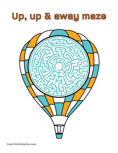 Balloon maze for kids
