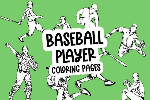 25 baseball player coloring pages: Free sports printables - Print