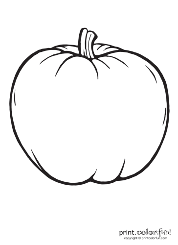 A Big Blank Pumpkin To Color Coloring Page Print Color