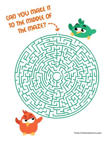 Bird maze - difficult