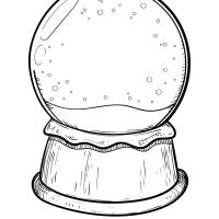 Blank snow globe