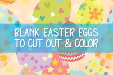 Blank easter eggs