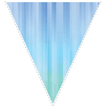 Blue zig-zag party decoration flag