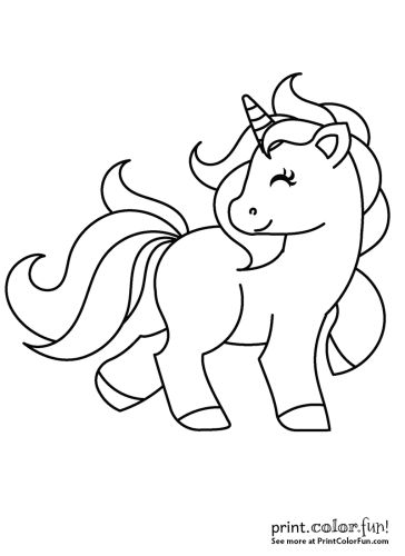 Cute My Little Unicorn 5 Different Coloring Pages To Print Coloring