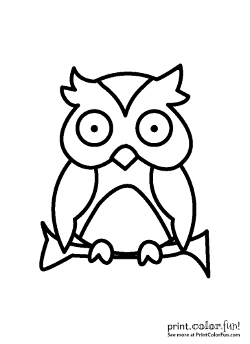 Cute fairy tale owl