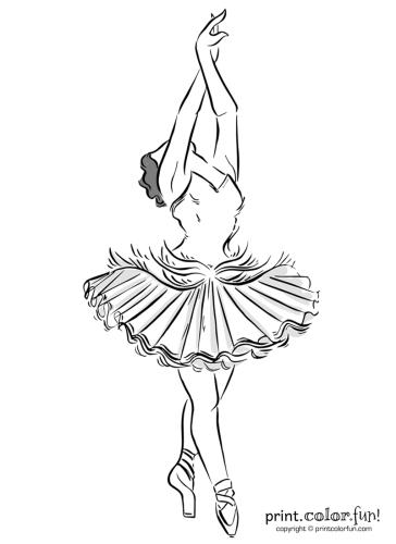 Elegant ballerina en pointe
