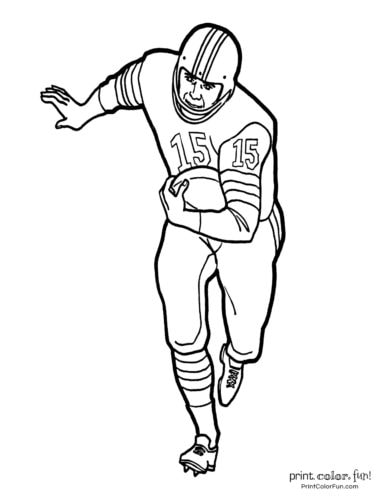 Football coloring pages: Free sports printables coloring
