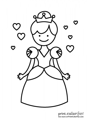 little princess or queen  a crown coloring page