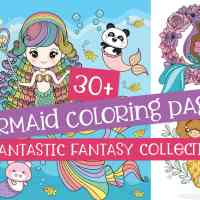Mermaid coloring pages: Cute & free fantasy printables